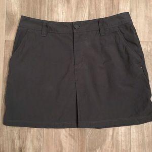 Icebreaker grey Destiny merino wool/cotton skirt